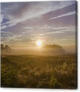 Misty Sunrise At Valley Forge Canvas Print