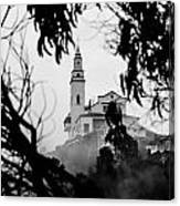 Misty View Of Monserrate Church Canvas Print