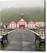 Misty View Of Victorian Pier  Redcar Canvas Print