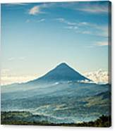 Misty Volcano Canvas Print