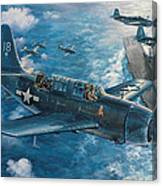 Mitscher's Hunt For The Rising Sun Canvas Print