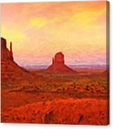 Mittens Sunset Canvas Print