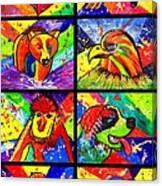 Mix Animal Pop Art Canvas Print