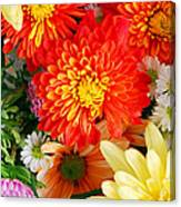 Mixed Flowers Canvas Print