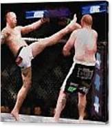 Mixed Martial Arts - A Kick To The Head Canvas Print