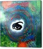 Mixed Media Abstract Post Modern Art By Alfredo Garcia Eye See You Canvas Print