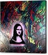 Mixed Media Abstract Post Modern Art By Alfredo Garcia Mona Lisa 2 Canvas Print