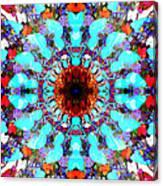 Mixed Media Mandala 1 Canvas Print