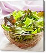 Mixed Salad On Table Canvas Print