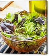 Mixed Salad With Condiments Canvas Print