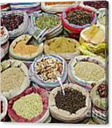 Mixed Spices In Market Of Cairo Egypt Canvas Print