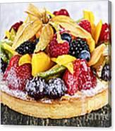 Mixed Tropical Fruit Tart Canvas Print