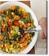 Mixed Vegetables Meal Canvas Print