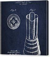 Mixer Patent From 1937 - Navy Blue Canvas Print