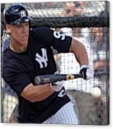 MLB: FEB 20 Spring Training - Yankees Workout Canvas Print