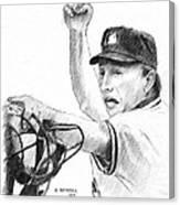 Mlb Umpire  Phil Cuzzi Canvas Print