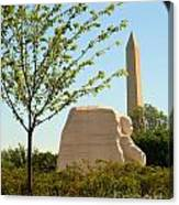 Mlk Memorial Canvas Print