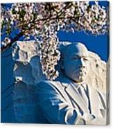 Mlk Memorial Framed By Cherry Blossoms Canvas Print