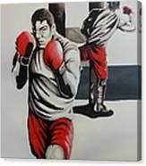 Mma Training Canvas Print
