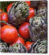 Articholes And Tomatoes Canvas Print