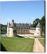 Moated Palace - Bussy-rabutin Canvas Print