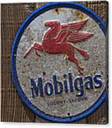 Mobil Gas Sign Canvas Print