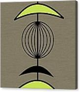 Mobile 3 In Green Canvas Print