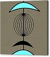 Mobile 3 In Turquoise Canvas Print