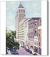 Mobile Alabama - North On St. Joseph Street - Merchants National Bank - 1937 Canvas Print
