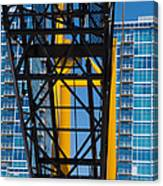 Mobile Crane Section Canvas Print