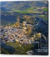 Moclin Castle From The Air Canvas Print