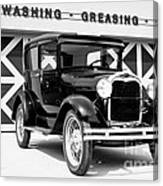 Model A Black And White Canvas Print