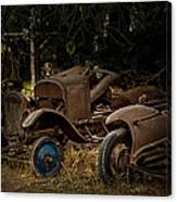 Model A Bodies And One Blue Wheel Canvas Print