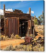 Model A Truck With Garage And House Canvas Print