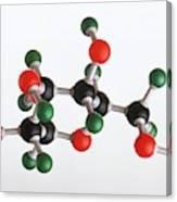 Model Of A Glucose Molecule Canvas Print