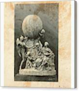 Model Of A Statue Dedicated To French Balloonists Canvas Print
