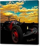 Model T Rat Rod Ride Cruisin Out At Sunset Canvas Print