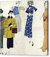Models Wearing Schiaparelli Canvas Print