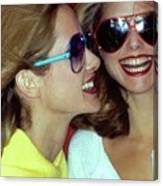 Models Wearing Sunglasses Canvas Print
