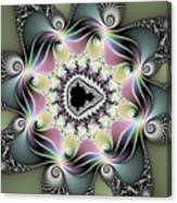 Modern Abstract Fractal Art Metallic Colors Square Format Canvas Print