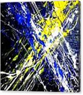 Modern Abstract Painting Original Canvas Art Atoms By Zee Clark Canvas Print