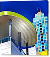 Modern Architecture With Blue Sky Canvas Print