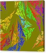 Modern Art Abstract Fractal Green Background Canvas Print