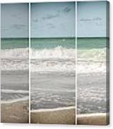 Modern Beach Tryptych Canvas Print