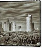 Modern Buenos Aires Black And White Canvas Print