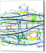Modern Drawing Eighty-seven Canvas Print