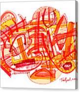Modern Drawing Eighty-six Canvas Print