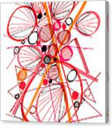Modern Drawing Fifty-four Canvas Print