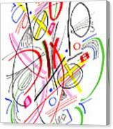 Modern Drawing Fifty-three Canvas Print