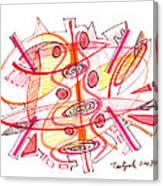 Modern Drawing Seventy-four Canvas Print